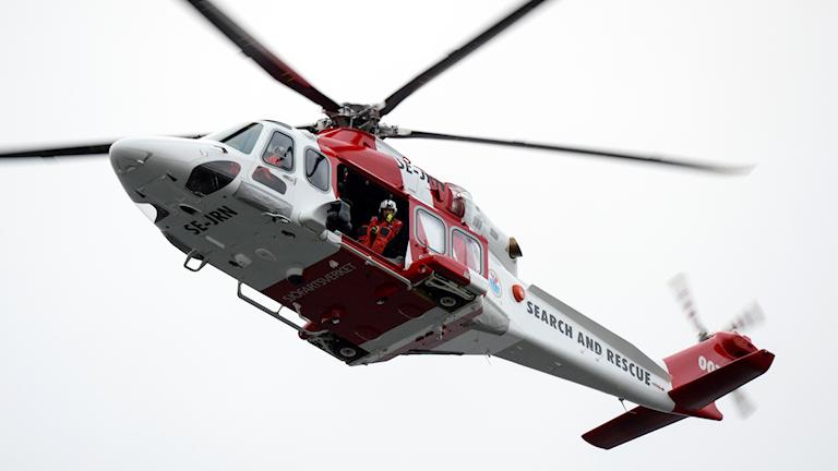 Sjöfartsverkets räddningshelikopter Lifeguard 007. Arkivbild