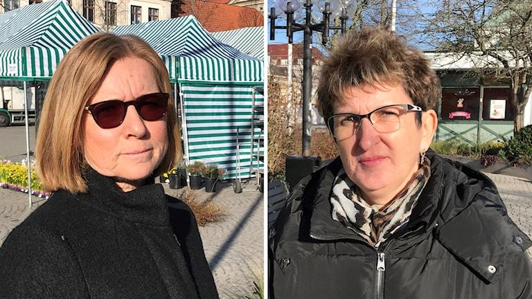 Torill Skaar Magnusson, chef för omsorgsförvaltningen i Karlshamn och Carina Frisk, ordförande i Demensföreningen i Karlshamn.