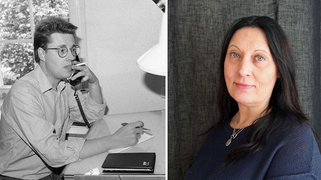 Stieg Larsson och Mimmi Karlsson-Bernfalk.