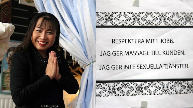Supanida Östensson på sin salong för thaimassage.