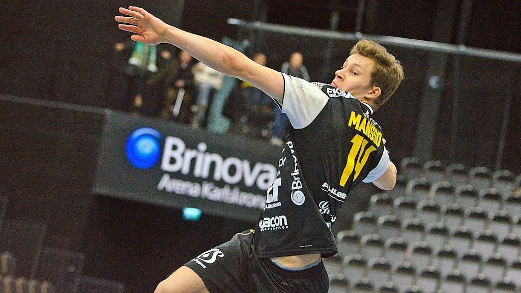 Jack Månsson handbollsspelare HIF Karlskrona. Foto Torbjörn Sunesson
