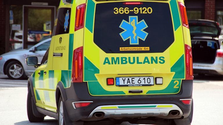 Baksidan på en ambulans