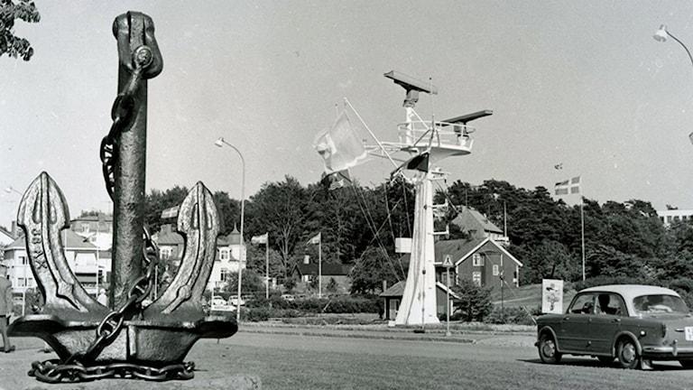 Privat bild av ankaret i Näsviken i Karlshamn