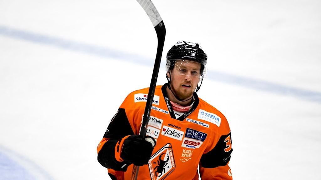 Marcus Paulsson i hemmatröjan från förra säsongen.