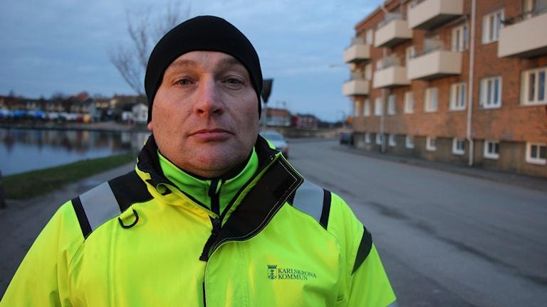 Johan Lindh på Skeppsbrokajen