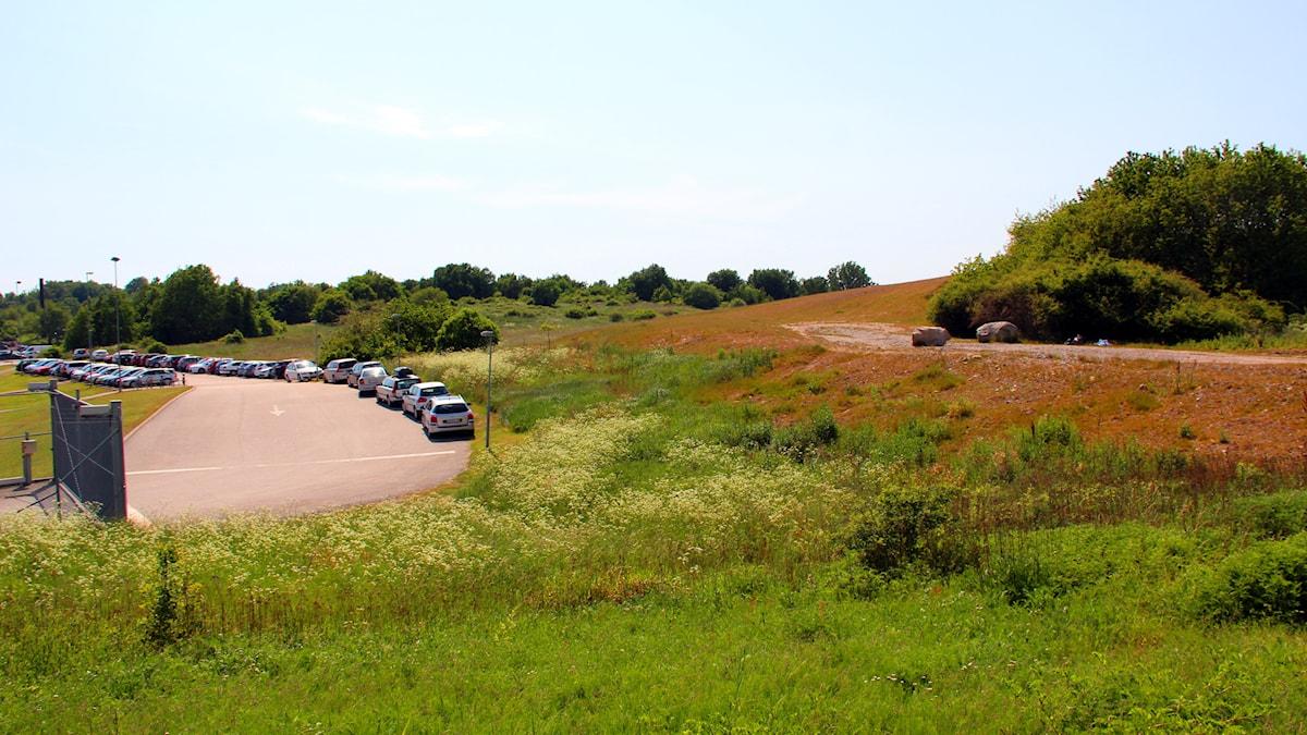 Området bakom Amiralen i Vedeby.