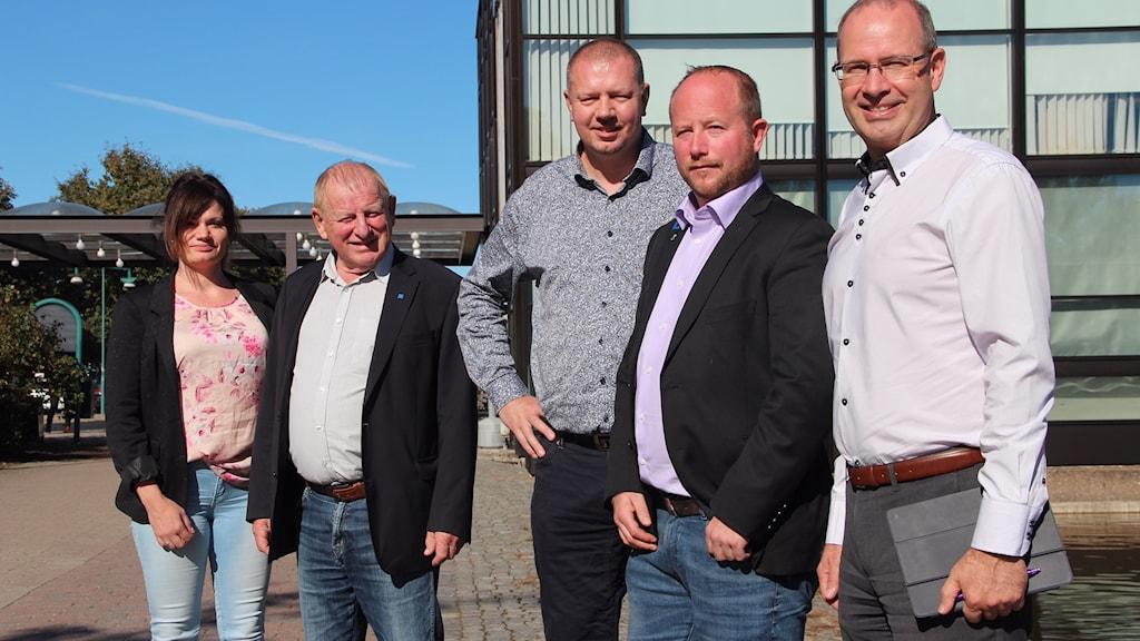 Fem gruppledare i Ronneby.