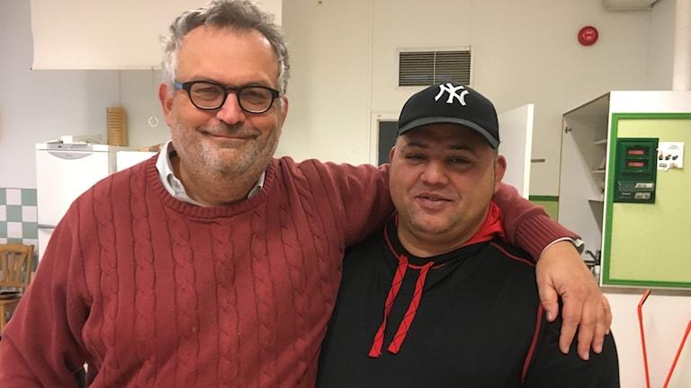 Martin Rosengren och Alex Vaduva härbärge för EU-migranter Lyckeby tiggare