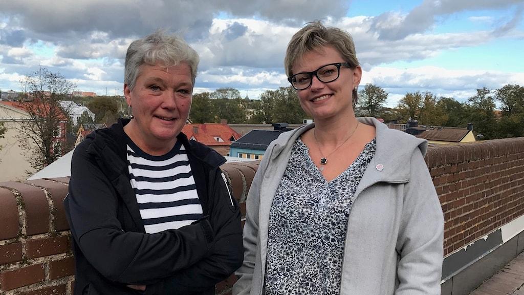 Lisbeth Bengtsson (S) och Selma Björk Matthiasdottir (S).