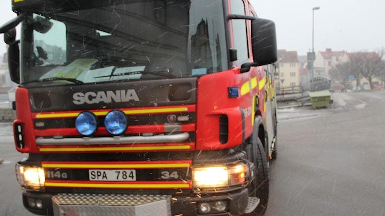 framsidan på en brandbil