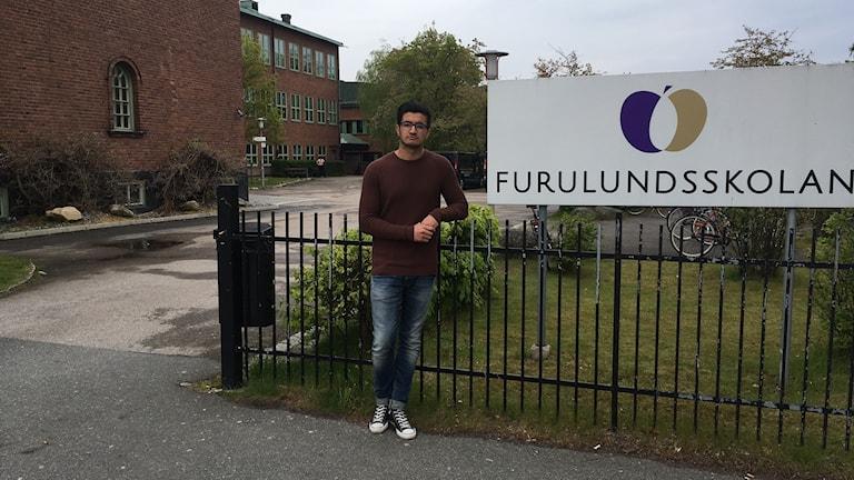Ayaman Fares vid Furulundsskolan