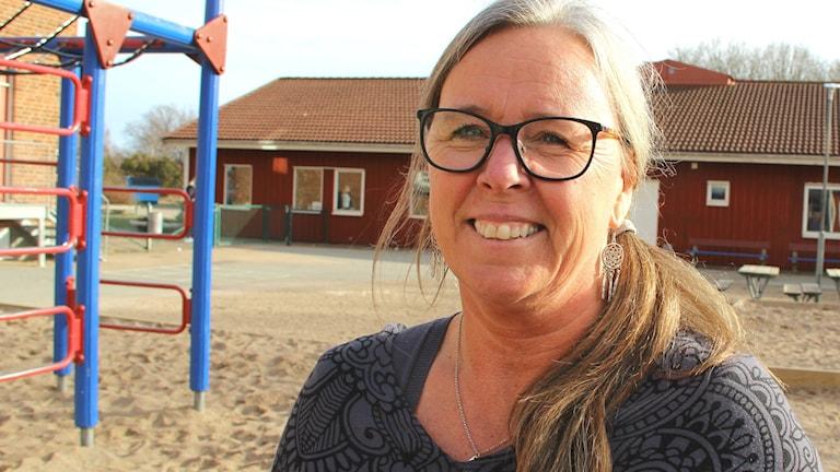 Porträttbild av Helén Allevang, skolområdeschef i Karlskrona kommun.