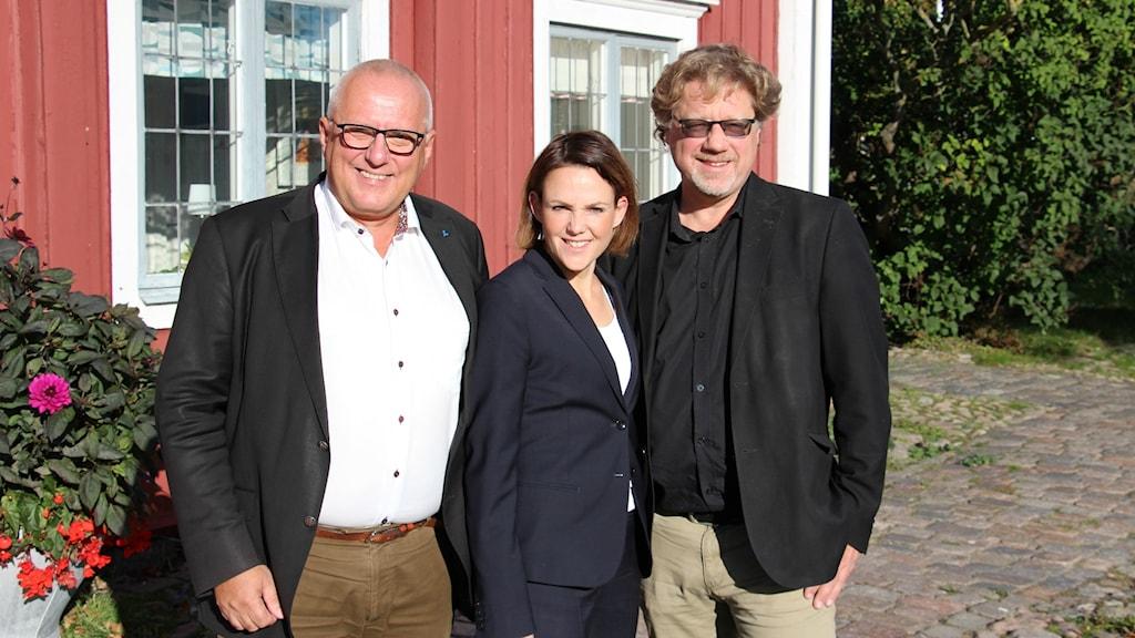 Liberalernas Börje Dovstad, Socialdemokraternas Sandra Bizzozero och Centerns Magnus Larsson.