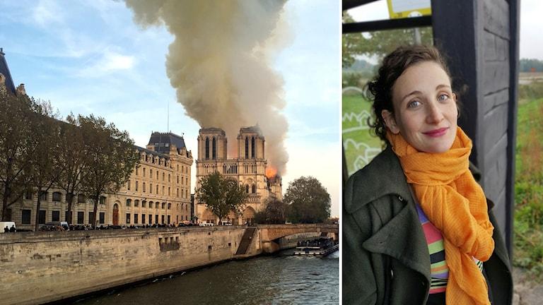 Den osäkra utgången gjorde att Suzanne Clavery från Fågelmara hade svårt att se rörliga bilder av branden.