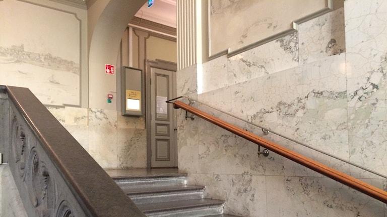 En interiörbild   på Blekinge Tingsrätt.