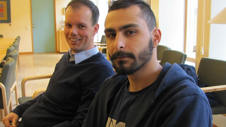 Marcus Cato, som startade projektet tillsammans med Erdinc Bayramgullari, som kommit tillbaka till skolan.