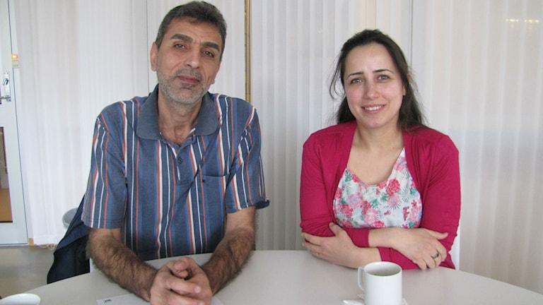 Alaa Aldiab och Lubna Kasem, akdemiker från Syrien