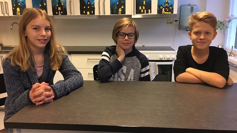 Tuva Ekenberg, Marwin Johansson och Colin Andersén