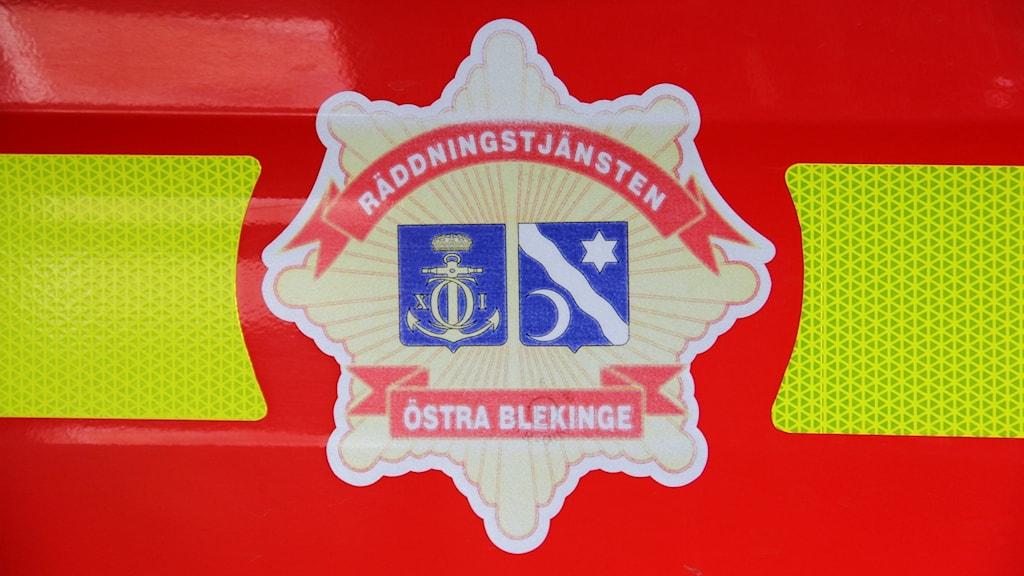 Emblem för räddningstjänsten östra Blekinge