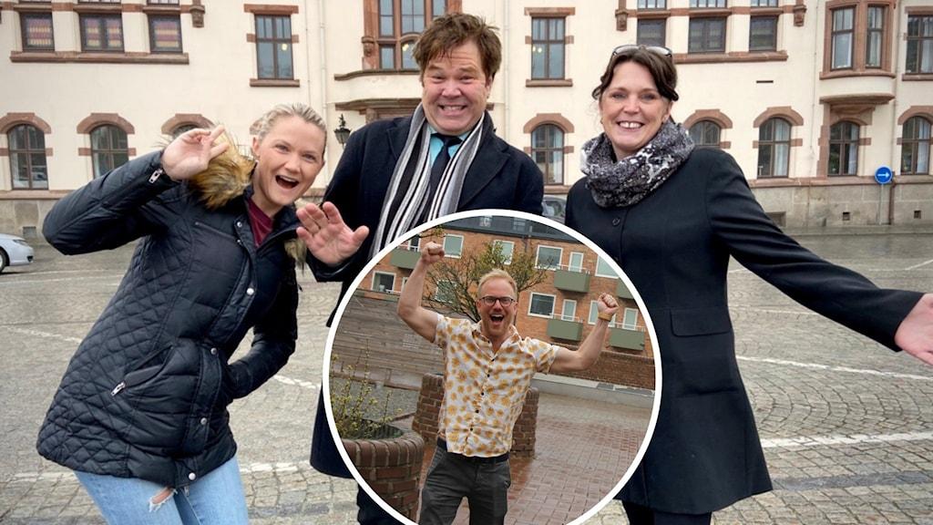 """Amanda Senekovic, Lotta Rasmusson, Roland """"Lolly"""" Johansson och Daniel Wallin bjuder på middag i rutan snart."""