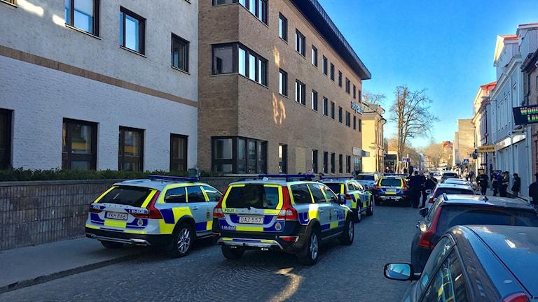 Bråk i centrala Växjö