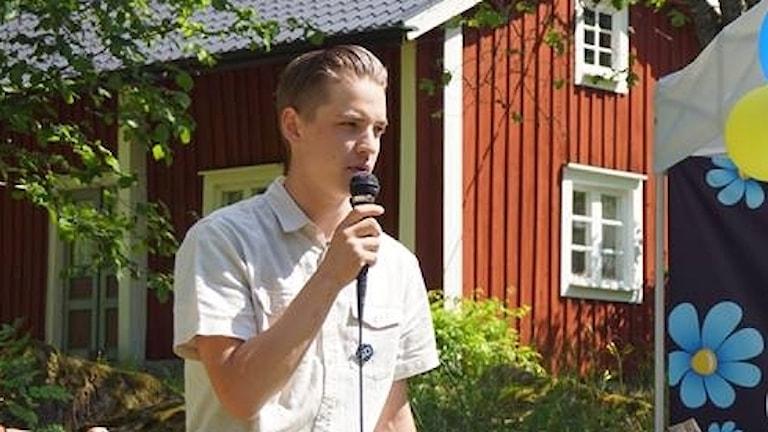 Arvid Nikolausson, sekreterare i Sverigedemokraternas kommunförening Alvesta/Älmhult.