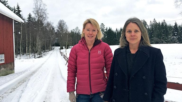 Föräldrarna Stina Broberg Bergkvist och Anna Bjerger.