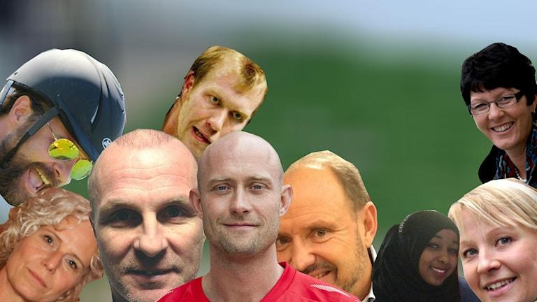 Delar av kändislaget som möter Eleven United