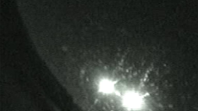 En bolid från oktober i fjol fångad på en kamera som tillhör observatoriet i Uppsala. Arkivbild.  Svenska Meteornätverket / Uppsala Universitet