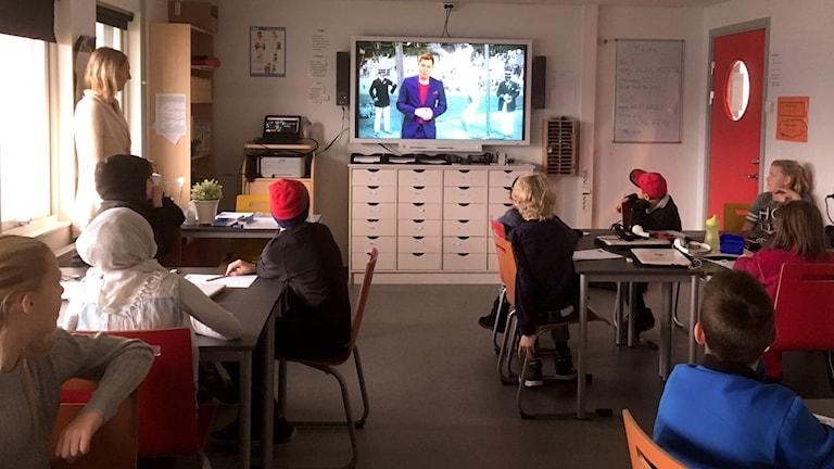 Femteklassen på Thorén Framtid i Växjö svarar på Vi i femman-frågor.
