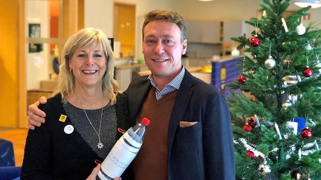 Katrin Lindwall och Marcus Brunskog från projektet Mot nya höjder.