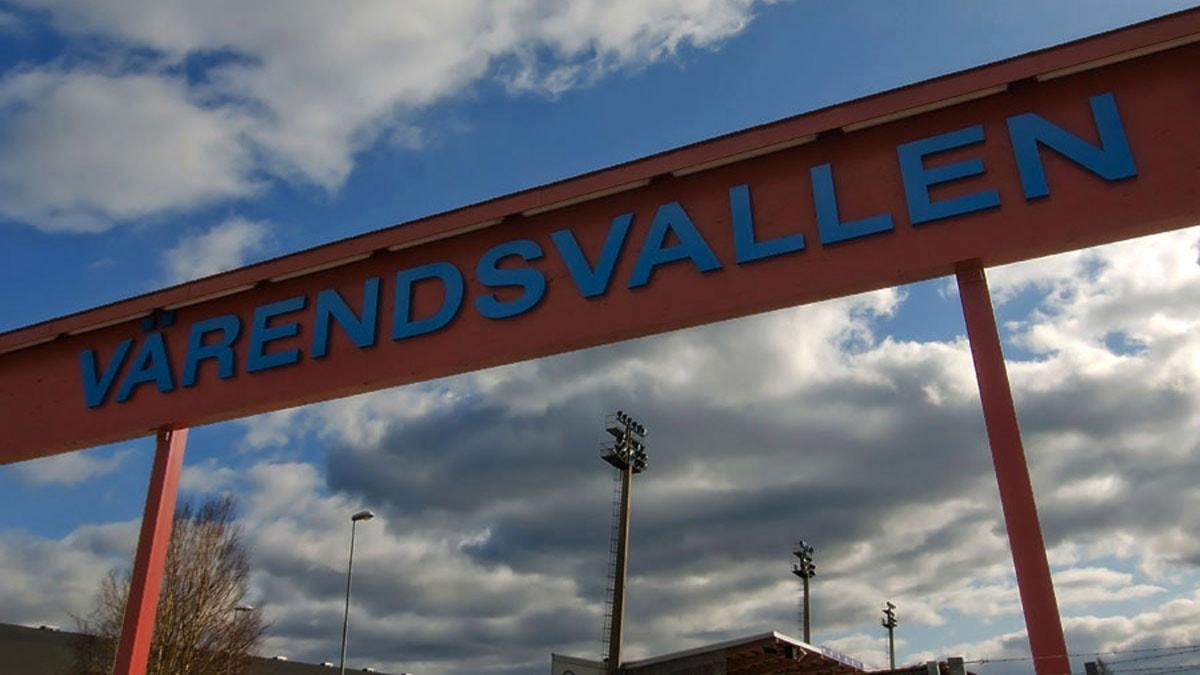 Skylten utanför Värendsvallen i Växjö. Foto: Lennart Nilsson/Sveriges Radio
