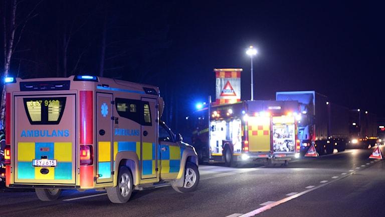 Olycka söder om Fagrabäcksrondellen i Växjö