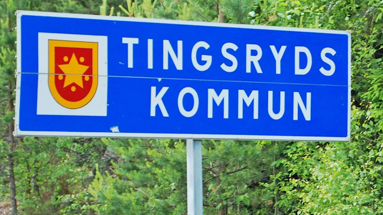 tingsryds kommun skylt Foto: Rikard Persson/Sveriges Radio