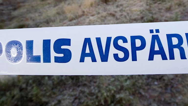 Polis avspärrat band. Foto: Patrick Trägårdh/Scanpix