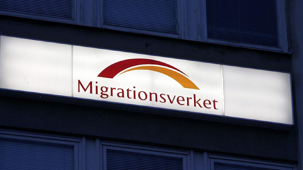 Skylt Migrationsverket. Foto: Bertil Ericson/Scanpix