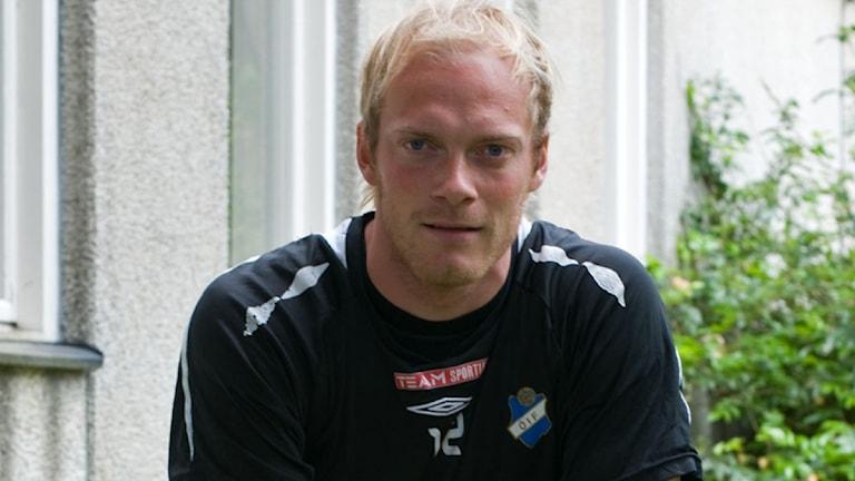 Fotbollsspelaren Rasmus Rydén i Öster. Foto: Lennart Nilsson/Sveriges Radio
