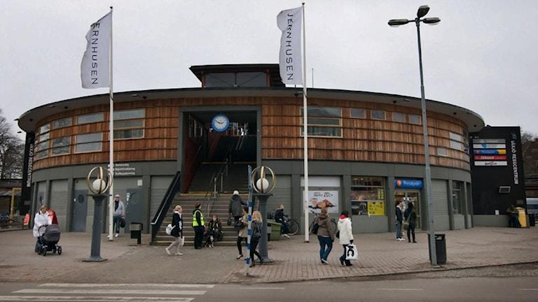 Resecentrum vid busstationen och järnvägsstationen i Växjö. Foto: Lennart Nilsson/Sveriges Radio