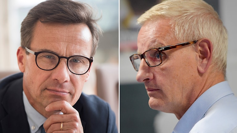 Ulf Kristersson och Carl Bildt.