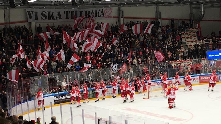 Troja/Ljungby firar vinst med publiken