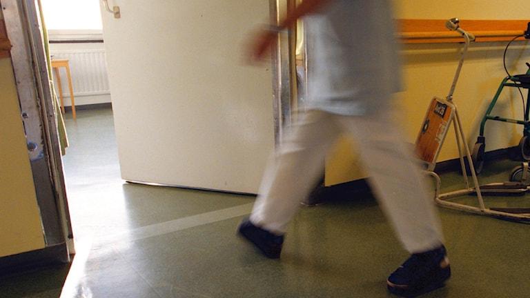 Sjuksköterska. Foto: Gunnar Ask/Scanpix.