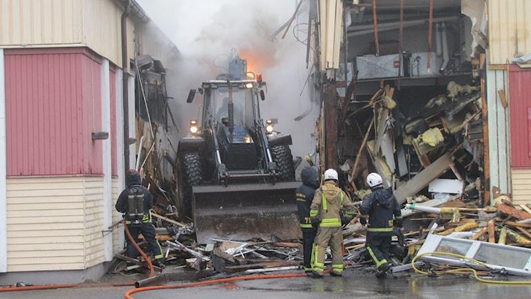 Brand i Lammhults Folkets Hus P4 Jönköping Sveriges Radio