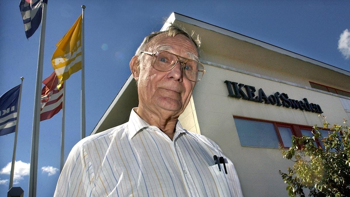Ingvar Kamprad framför Ikea of Sweden