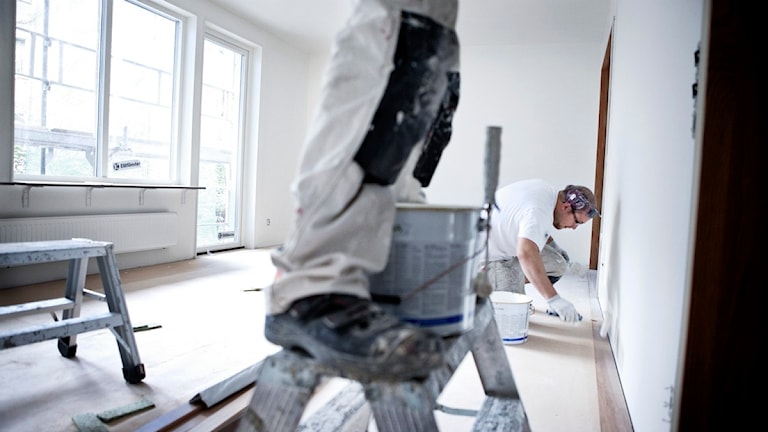 Hantverkare i arbete. Foto: Karin Nilsson/Scanpix