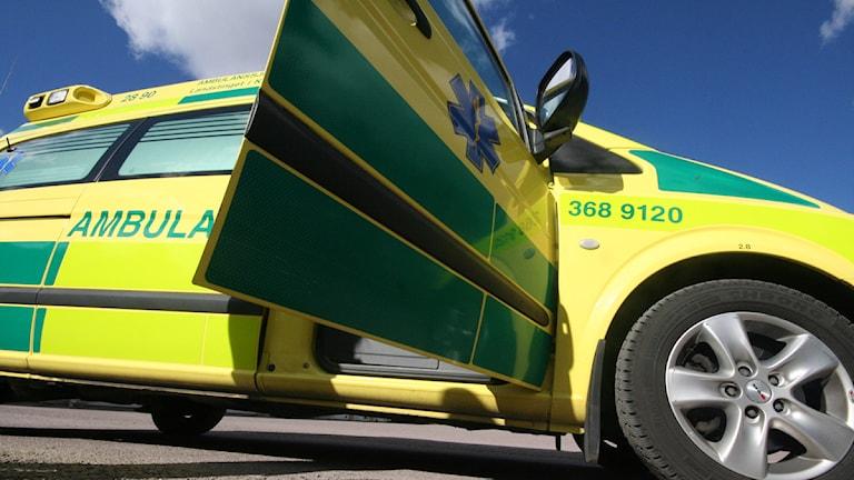 En ambulans. Foto: Nick Näslund/Sveriges Radio.