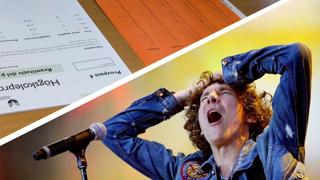Håkan Hellström på konsert och ett högskoleprov