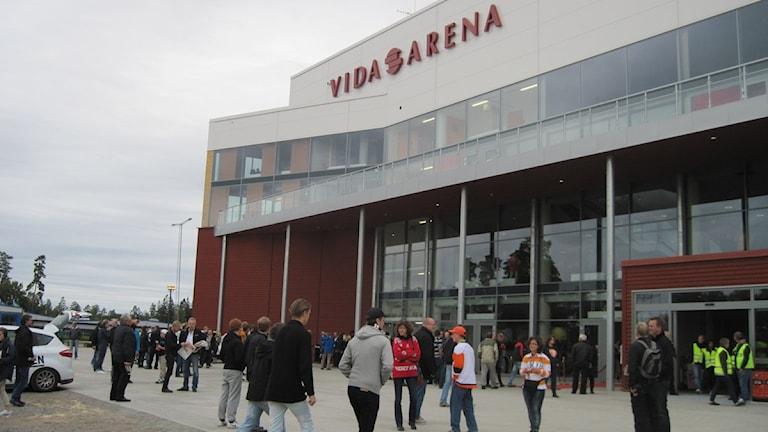 Vida Arena vid invningen den 17 september. Foto: Karin Hellzén/Sverige Radio
