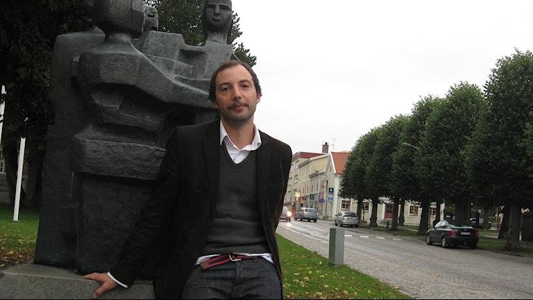 Nicolas Hansson, konstchef i Växjö kommun. Foto: Martina Svensson/Sveriges Radio