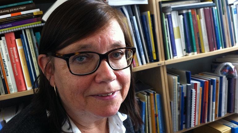 Betty Rhodin, prefekt polisutbildningen i Växjö. Foto: Marcus Sjöholm/Sveriges Radio