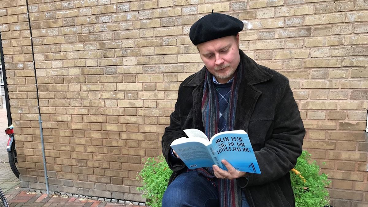 Författare Jeremiah Björkman, Ljungby läser ur sin fjärde roman.
